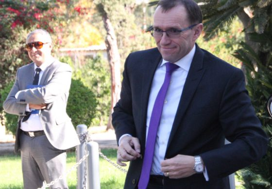 UN Special Adviser on Cyprus Espen Barth Eide gearing up for a meeting (Christos Theodorides)