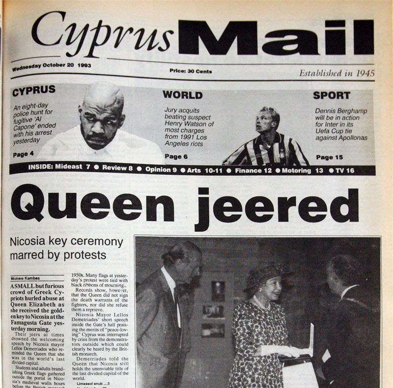 Queen jeered - October 20, 1993