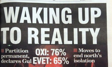 Waking up to reality: Front page of the Sunday Mail the day after the referendum on the Annan plan - April 25, 2004