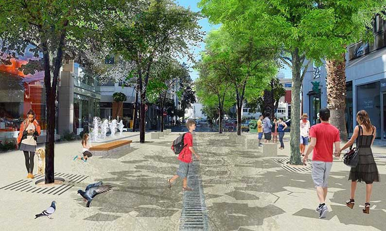 Artist's impression of Stasikratous St post-reconstruction