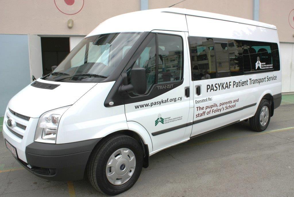 PASYKAF minivan which transports patients