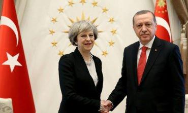 In Turkey visit, Britain's May highlights trade, and human rights