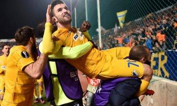 Apoel defy the odds to reach Europa League last-16