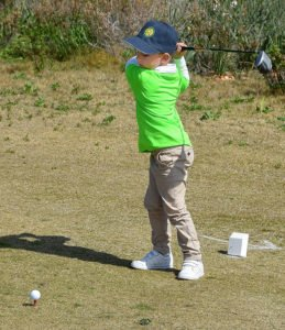 Five-year-old Alexandros Belov was second in the Tiny Tots competition