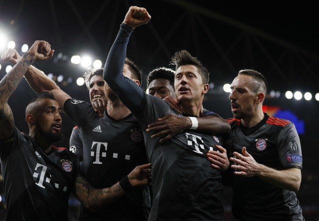 Bayern look to raise game despite Arsenal demolition
