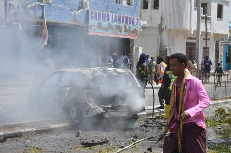 Car bomb kills at least eight in Somali capital