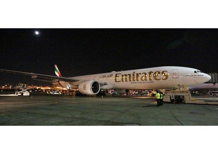 Emirates touches down in Newark via Athens