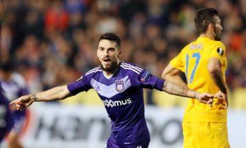 Apoel suffer narrow first-leg defeat against Anderlecht