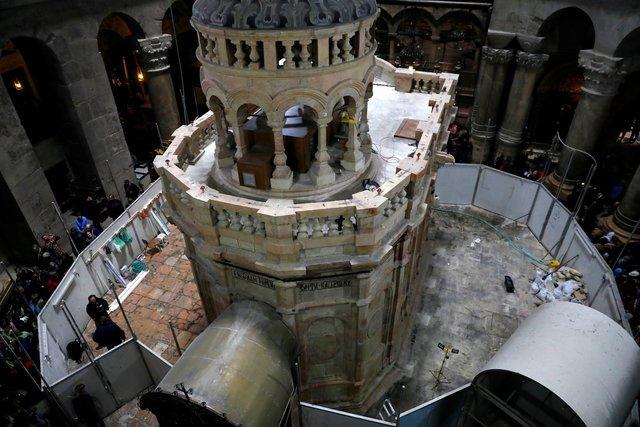 Restoration work completed on site of Jesus's tomb in Jerusalem