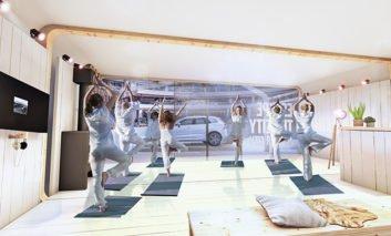 Volvo offers retreat in pop-up activity studio