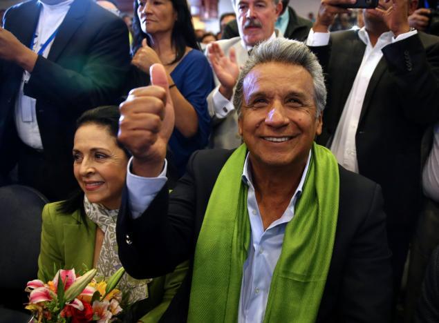 Ecuador leftist claims victory, conservative demands recount