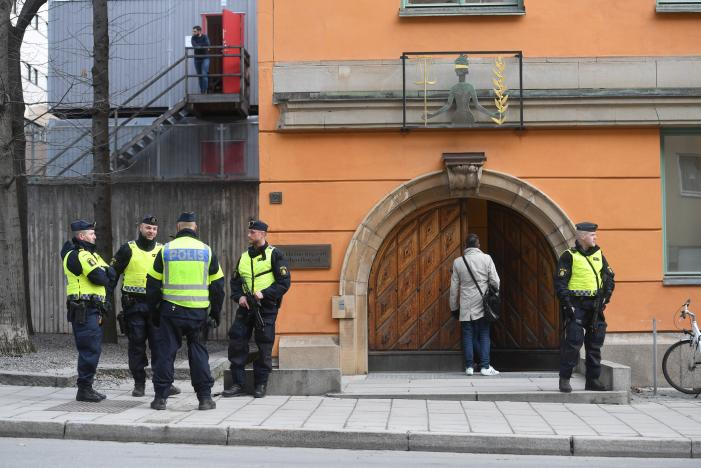 Man injured after object explodes outside Stockholm subway station
