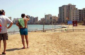 Greek Cypriots visit the seaside town of Famagusta, or Ammochostos as it is known in Greek