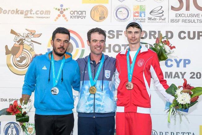 Achilleos wins silver at Shotgun World Cup