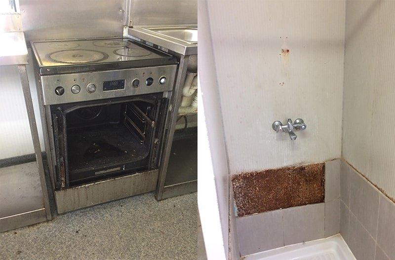 The poor facilities at Kofinou
