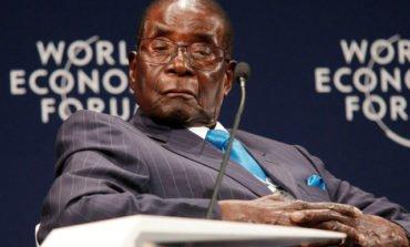 Slumped and mumbling, 93-year-old Mugabe denies Zimbabwe is 'fragile'