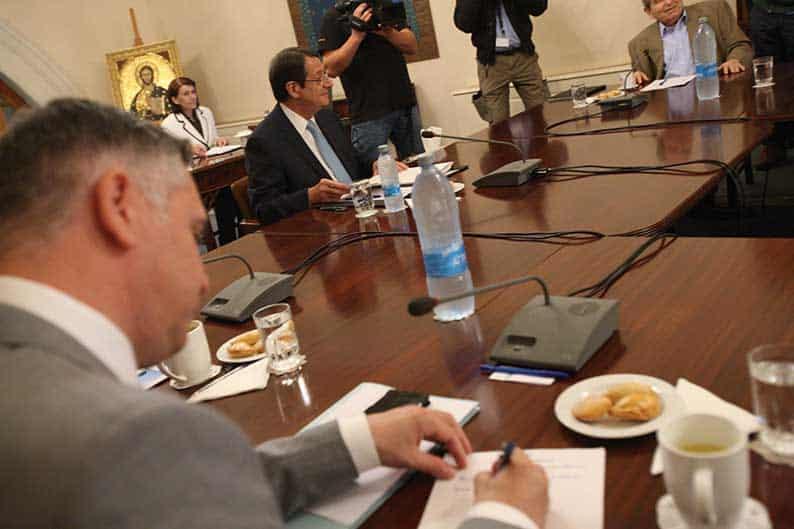 President Anastasiades presiding over the national council on Monday