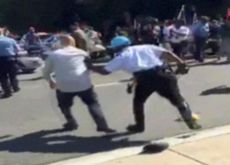 U.S. decries Washington brawl during Turkish president's visit