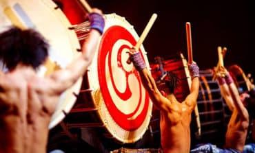 Hitting that taiko drum in Paphos