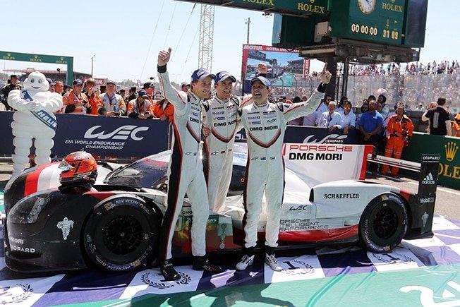 Porsche complete Le Mans hat-trick
