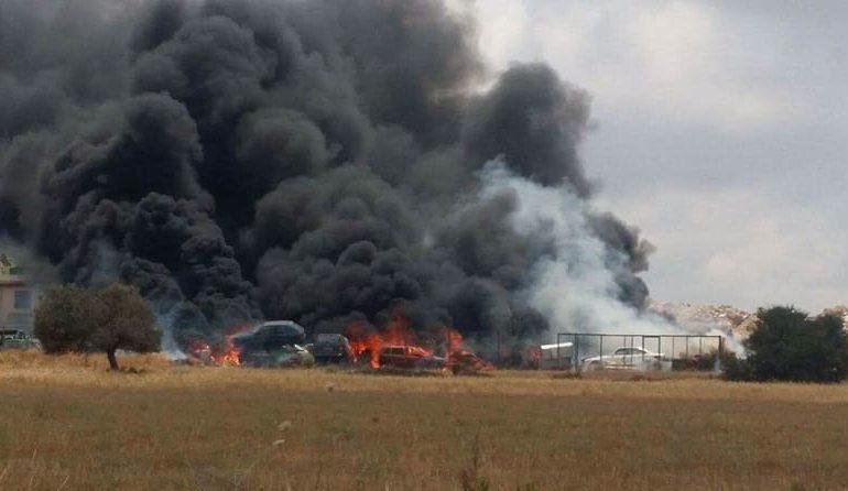 Paphos scrapyard fire under control (Updated)