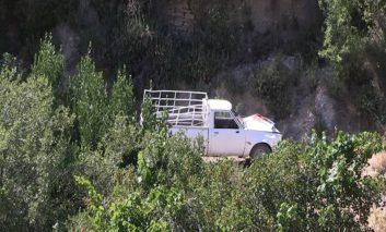 Elderly man dies after car plunges down a cliff