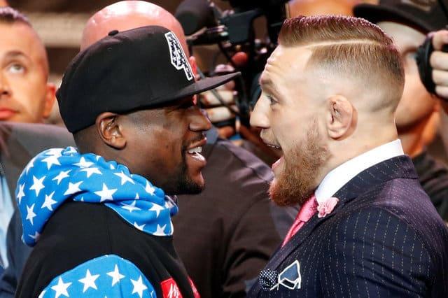 Mayweather, McGregor press tour kicks off with war of words