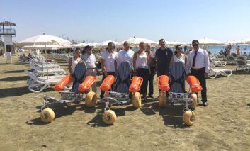 Larnaca gets beach wheelchairs