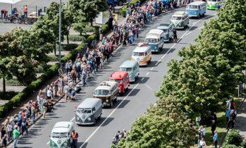 Volkswagen's bus party