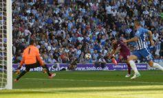 Aguero on target as Man City down promoted Brighton