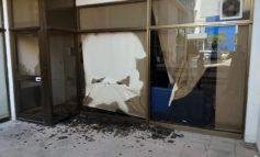 Windows of Elam's Limassol offices smashed