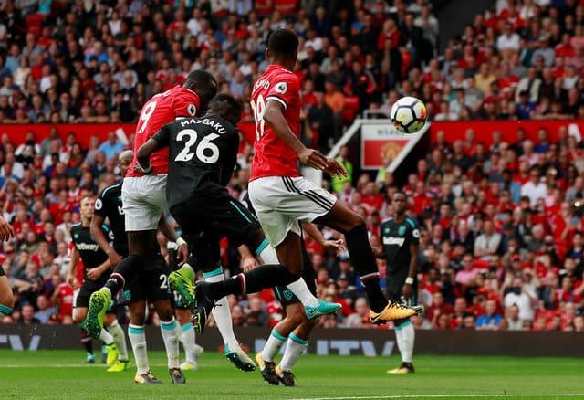 Lukaku strikes twice as United crush West Ham
