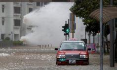 Typhoon Hato hits Hong Kong, flights cancelled, streets flooded