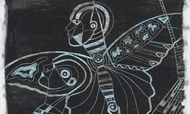 Butterfly wings flap in art