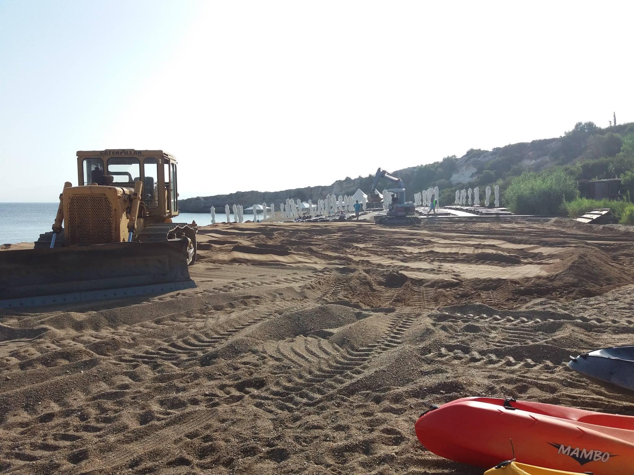 bulldozer at Anassa hotel