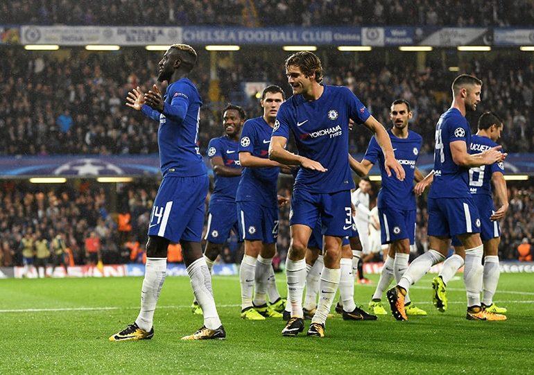 Chelsea crush Qarabag debutants on return to Europe