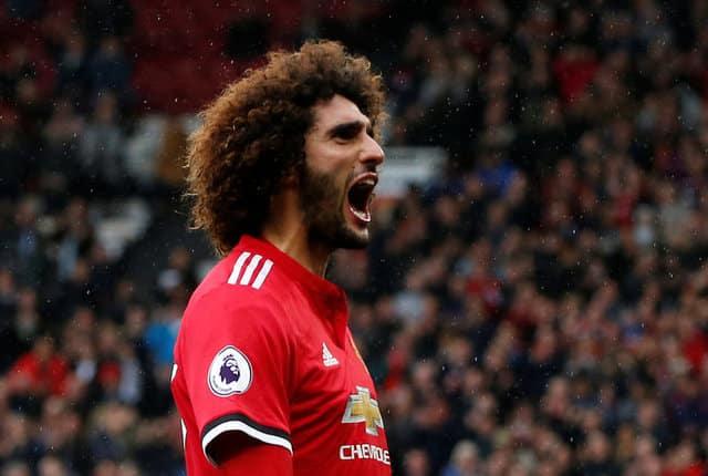 Fellaini strikes twice as Man United crush Palace