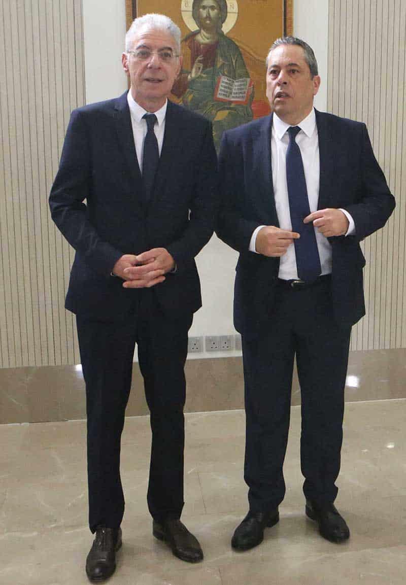 Undersecretary to the President Vassilis Palmas (R)