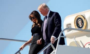 Trump visits Las Vegas to grieve with traumatised city