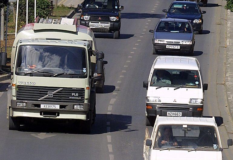 Lane closures on motorway
