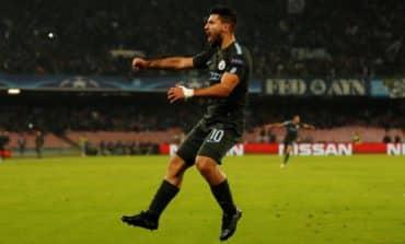 Aguero breaks Man City record in thrilling win at Napoli