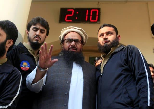 Freed Pakistani militant rails against India, ex-PM Sharif