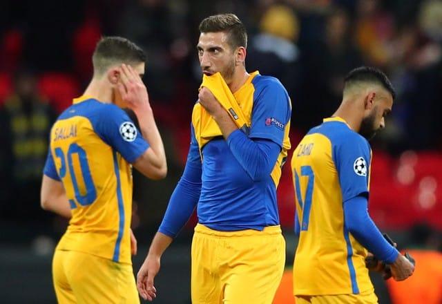 Apoel's European campaign over after Tottenham defeat