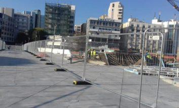 Concrete pouring to close Eleftheria square on Wednesday