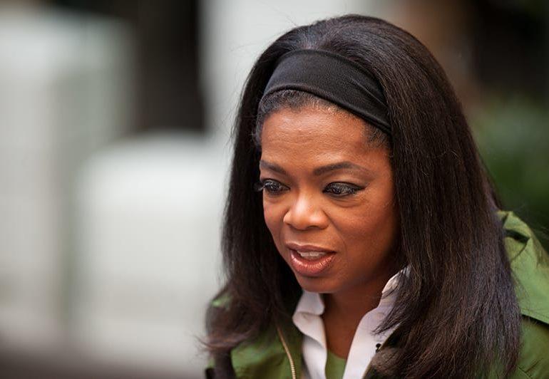 Oprah Winfrey addressed racial abuse  in Golden Globes speech