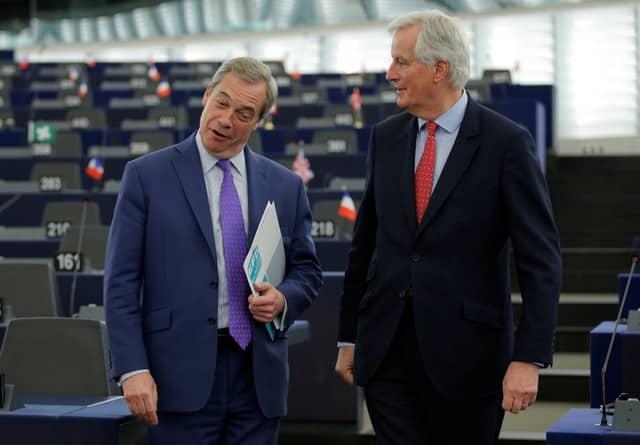 Brexiteer Farage enters the lion's den to meet EU's chief negotiator