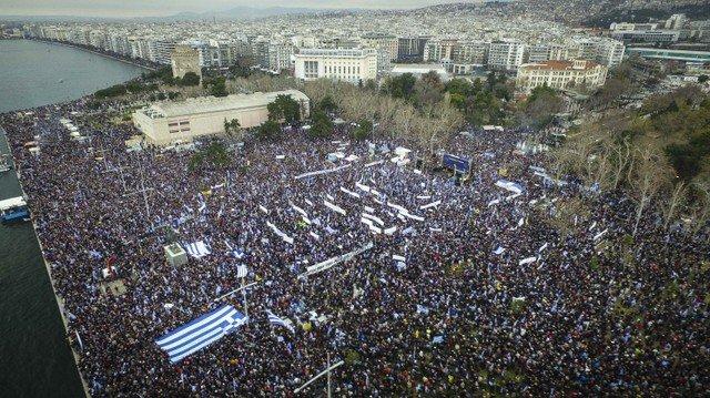 "Greeks rally against use of ""Macedonia"" in Skopje name dispute"