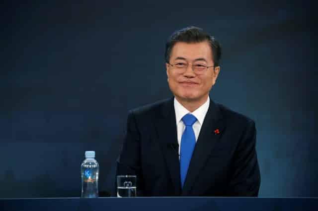 S. Korea's Moon: Trump deserves 'big' credit for N. Korea talks
