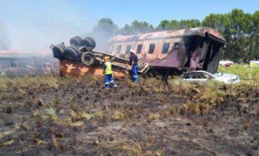 Dozen dead, scores injured in South Africa train crash