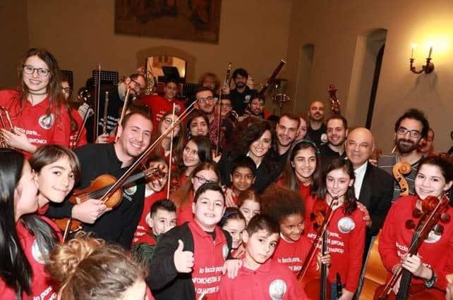 "CARPISA supports the children's orchestra of the ""QUARTIERI SPAGNOLI"" in Naples"
